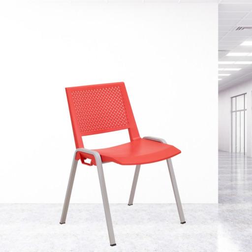 chaise visiteur rouge Marina