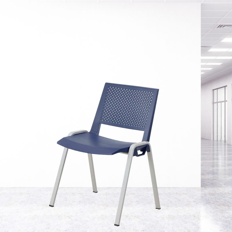 chaise visiteur bleu Marina