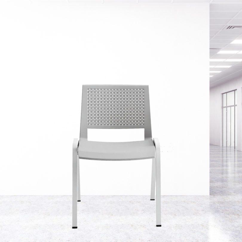 chaise visiteur gris Marina